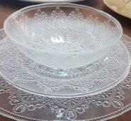 סט אוכל זכוכית 18 חלקים דגם BELLA