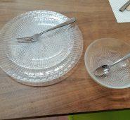 סט אוכל זכוכית 18 חלקים דגם PUNTO